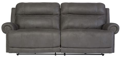 austere power reclining sofa austere gray power reclining sofa from ashley 3840147