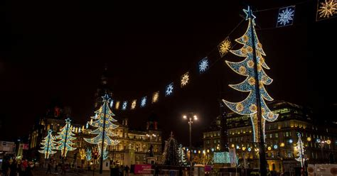 Repairs To George Square Christmas Lights Are Complete George Square Lights
