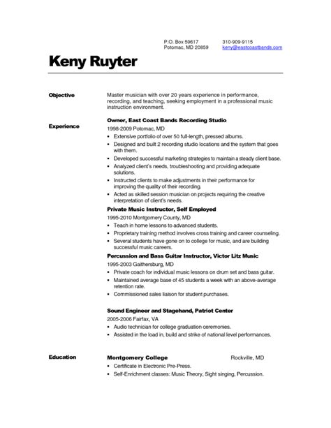 Musician Resume Exles by Update 3671 Singer Resume Template 33 Documents Bizdoska