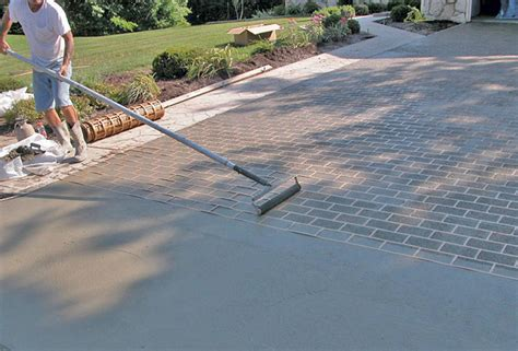 driveway pattern roller improve your outcome when using concrete stencils