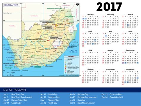 year calendar 2017 south africa south africa holiday calendar 2017