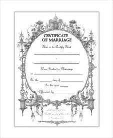 free printable marriage certificate template sle blank certificate 8 documents in pdf word