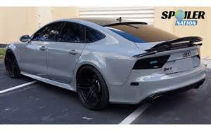 Audi A7 Wing 2010 2017 Audi A7 Rs7 S7 Tesoro 3pc Rear Lip Spoiler