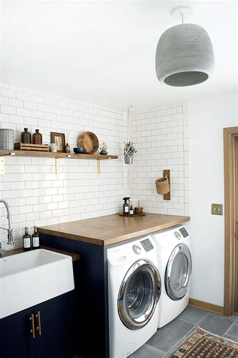 Modern Navy Laundry Room Reveal Brepurposed Navy Laundry