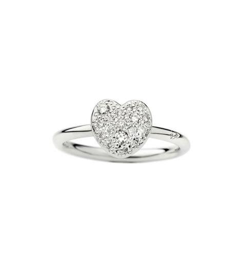 anello pomellato cuore anello cuore oro bianco diamanti dodo official