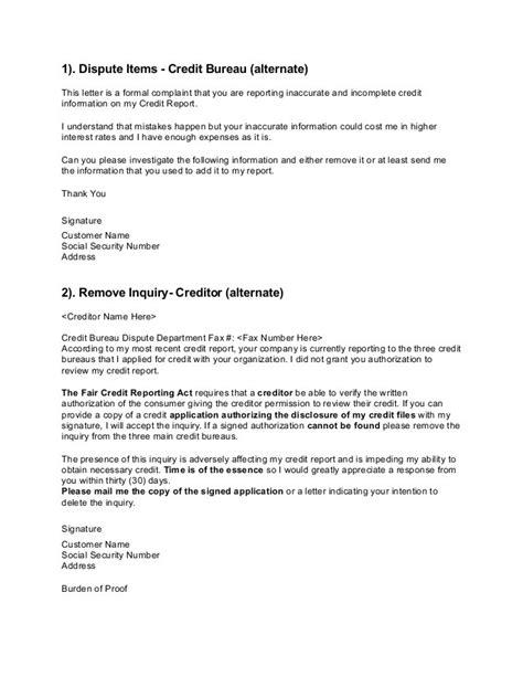 Credit Bureau Response Letters Credit Bureau Credit Bureau Agencies