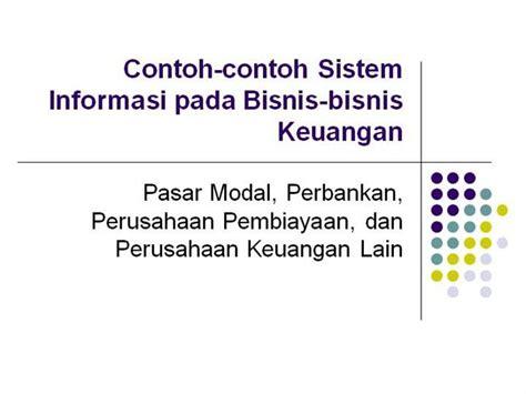 Contoh Contoh Sistem Informasi Pada Bisnis Bisnis Template Ppt Bisnis