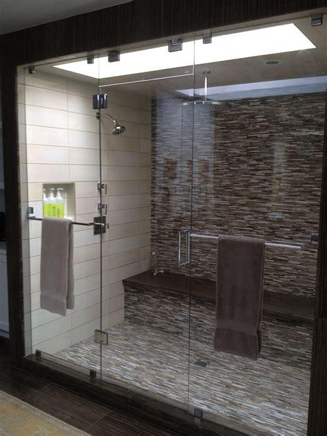 California Frameless Shower Doors Frameless Shower Doors Enclosures California Reflections Inline Panel Door In And Clear Glass