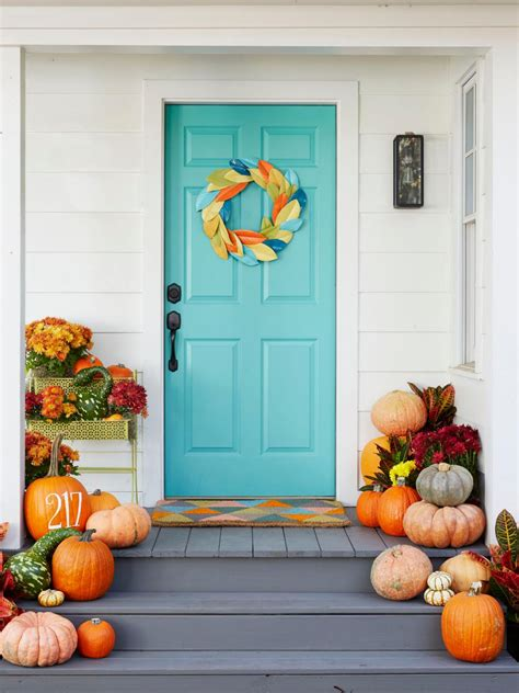 home door decoration our favorite fall decorating ideas hgtv