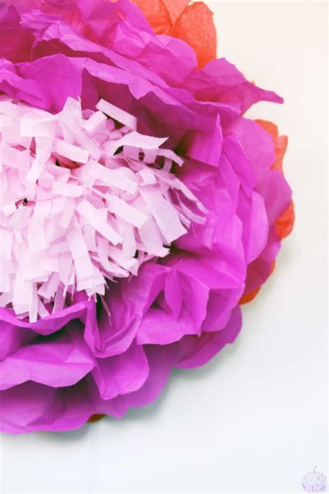 How To Make Flat Tissue Paper Flowers - how to make tropical tissue paper flowers 187 the purple