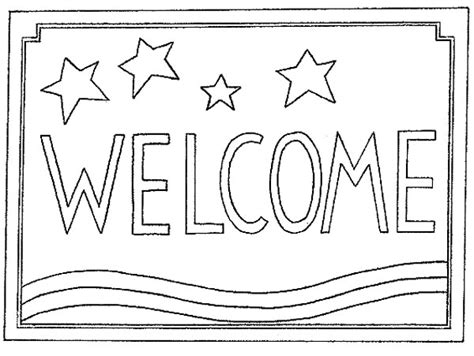 Welcome Coloring Page welcome coloring pages chuckbutt