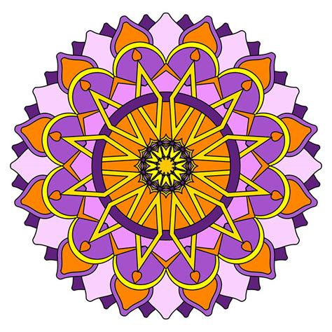 Free coloring pages of mandalas beginner