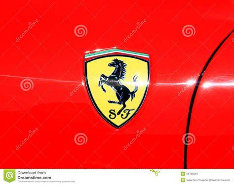 Ferrari Zeichnen by Ferrari Zeichen Redaktionelles Bild Bild 19785010
