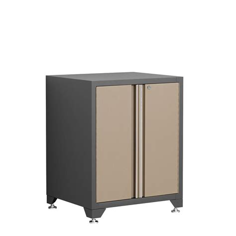 home depot garage cabinet newage products pro series 35 in h x 28 in w x 24 in d 2 door 18 welded steel garage