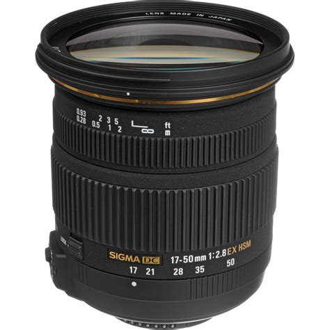 Sigma 17 50mm F2 8 Ex Dc Os Hsm Black Lens For Nikon sigma 17 50mm f 2 8 ex dc os hsm zoom lens for nikon dslrs b h