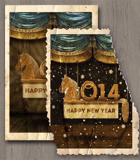 tutorial photoshop new year happy new year vintage old card photoshop tutorial