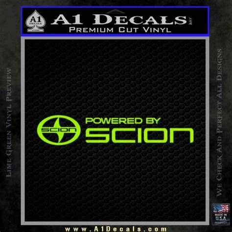 a1 scion powered by scion decal sticker 187 a1 decals