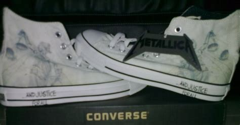Jual Converse Metallica garage em shop metallica shoes converse limited edition and justice for all rp 300 000