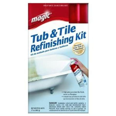 bathtub restoration kit magic 17 oz bath tub and tile refinishing kit spray on