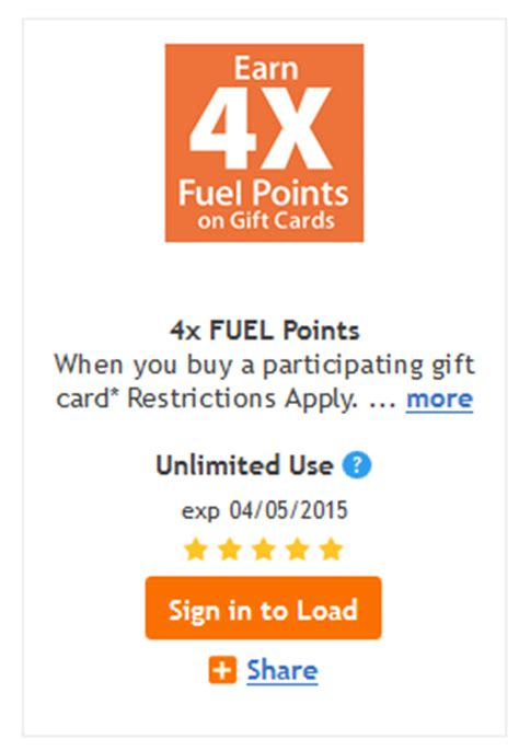 Kroger Gift Cards 4x Points - kroger earn 4x fuel points on gift cards bargains to bounty