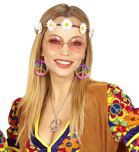 Accessoires 70er Jahren by 70er Jahre Flower Power Hippie Set Brille Haarband Mit