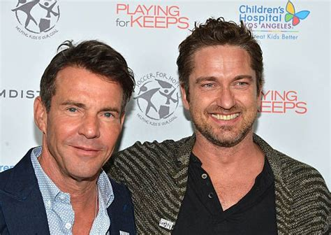 Dennis Quaid Says Hospital Misled Him by Actors Dennis Quaid And Gerard Butler Arrive At The