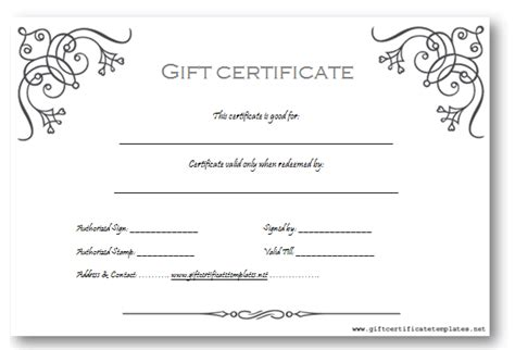 gift card template microsoft word 8 best images of business gift certificate template gift