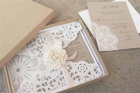Wedding Invitation by Classic Wedding Invitations Lace Wedding Invitations