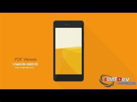 xamarin tutorial pdf download xamarin android tutorial pdf viewer youtube