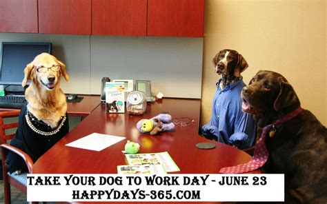 international puppy day 2017 take your to work day june 23 2017 happy days 365