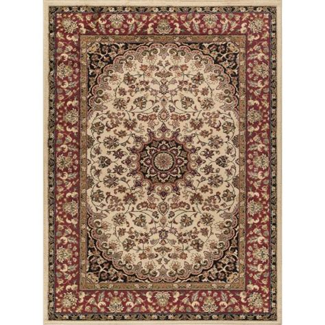 machine made area rugs shop tayse elegance beige rectangular indoor machine made area rug common 8 x 10 actual 7 5