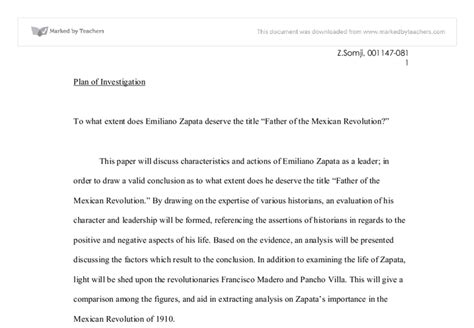 Essay About Mexicos History by Essay About Mexican Revolution