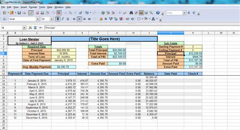 open office calc templates best free amortization shedule maker software