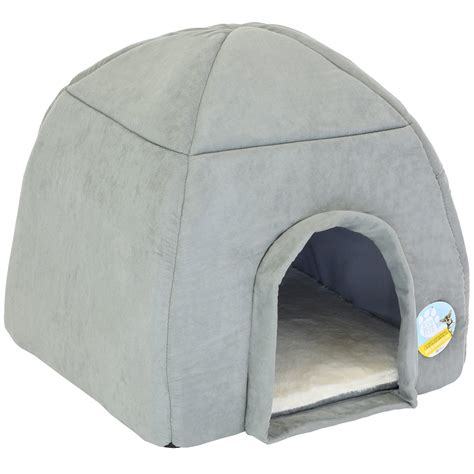 dog igloo bed me my super soft large grey cat dog igloo pet bed warm