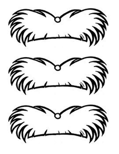 lorax template lorax mustache template popsicles the lorax and dr seuss