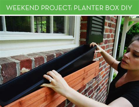 installing window boxes weekend project installing a planter box curbly