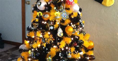 images of a steelers christmas tree hometown steelers tree pittsburgh blackandgold steelers