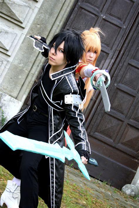 sword art online kirito cosplay kirito and asuna sword art online cosplay by k i m i on