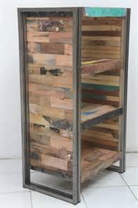 Beach Bookcase Salvaged Boat Wood 4 Shelf Bookcase Beach Style