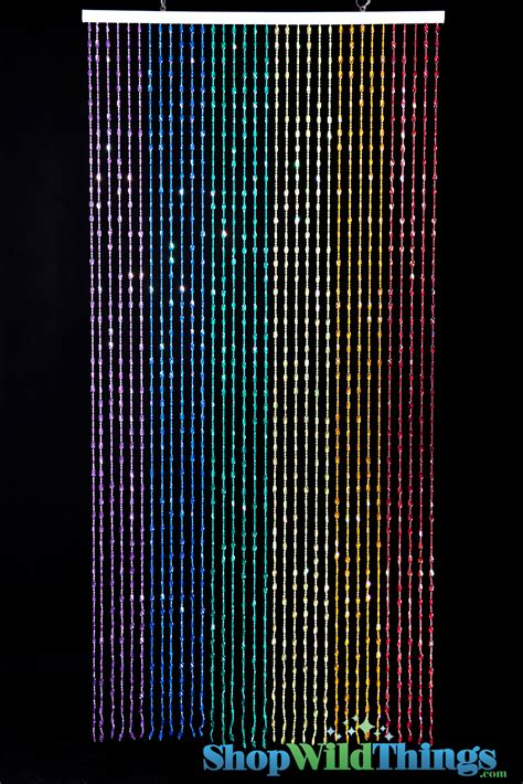 rainbow beaded curtain rainbow party decorations iridescent rainbow door beads