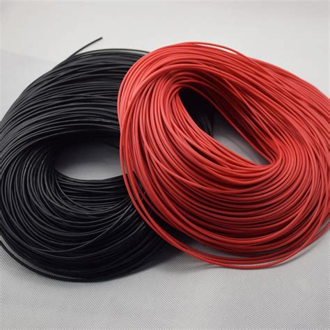 20 electrical wire 18awg 20 meter 10black 10red wire silicone wire