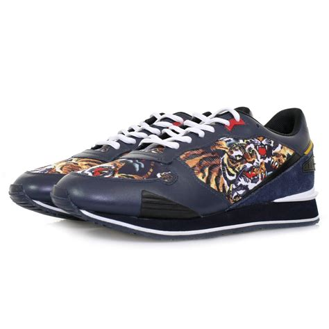 kenzo shoes kenzo running e17 flying tiger navy shoe m42465 in blue