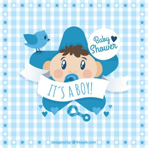 Baby Boy Shower Images Free by Baby Shower Card Vector Premium