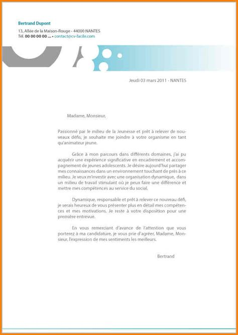 Lettre De Motivation Anglais Simple 10 Lettre De Motivation Simple Et Courte Format Lettre