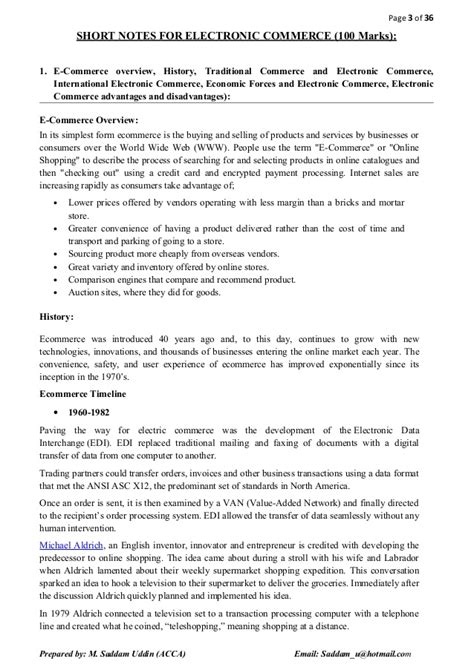 E Commerce Mba Notes by E Commerce Notes