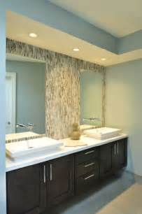 Modern Bathroom Tile Backsplash Floating Vanity Contemporary Bathroom Rethink Design