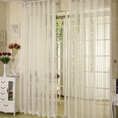 Simple Sheer Linen Curtain With The Decoration Of Gold Lines