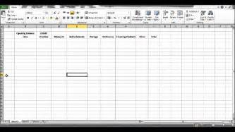 how to create a petty cash template using excel part 2