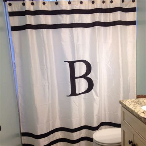 shower curtains monogrammed love our monogram shower curtain for the home
