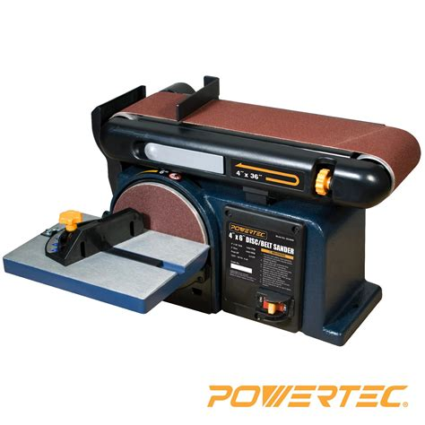 woodworking belt sander powertec bd4600 woodworking belt disc sander 4 inch by 6 inch